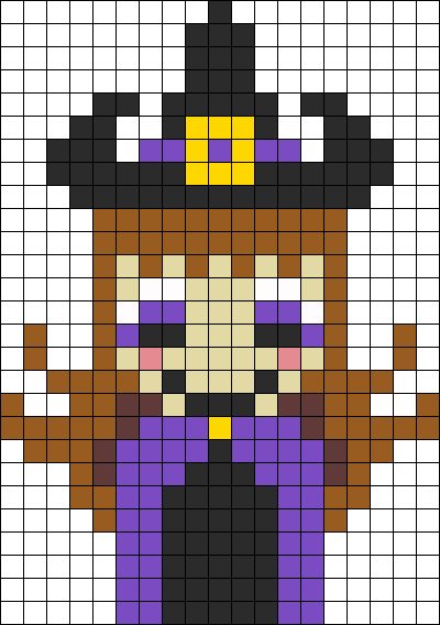 Cute Witch Perler Bead Pattern   Bead Sprites   Misc Fuse Bead ...