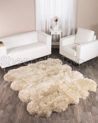 Large Stone Color Sheepskin Rugs Made With 8 Pelts A High Quality Longwool Bowron Lambskin Rug From Town