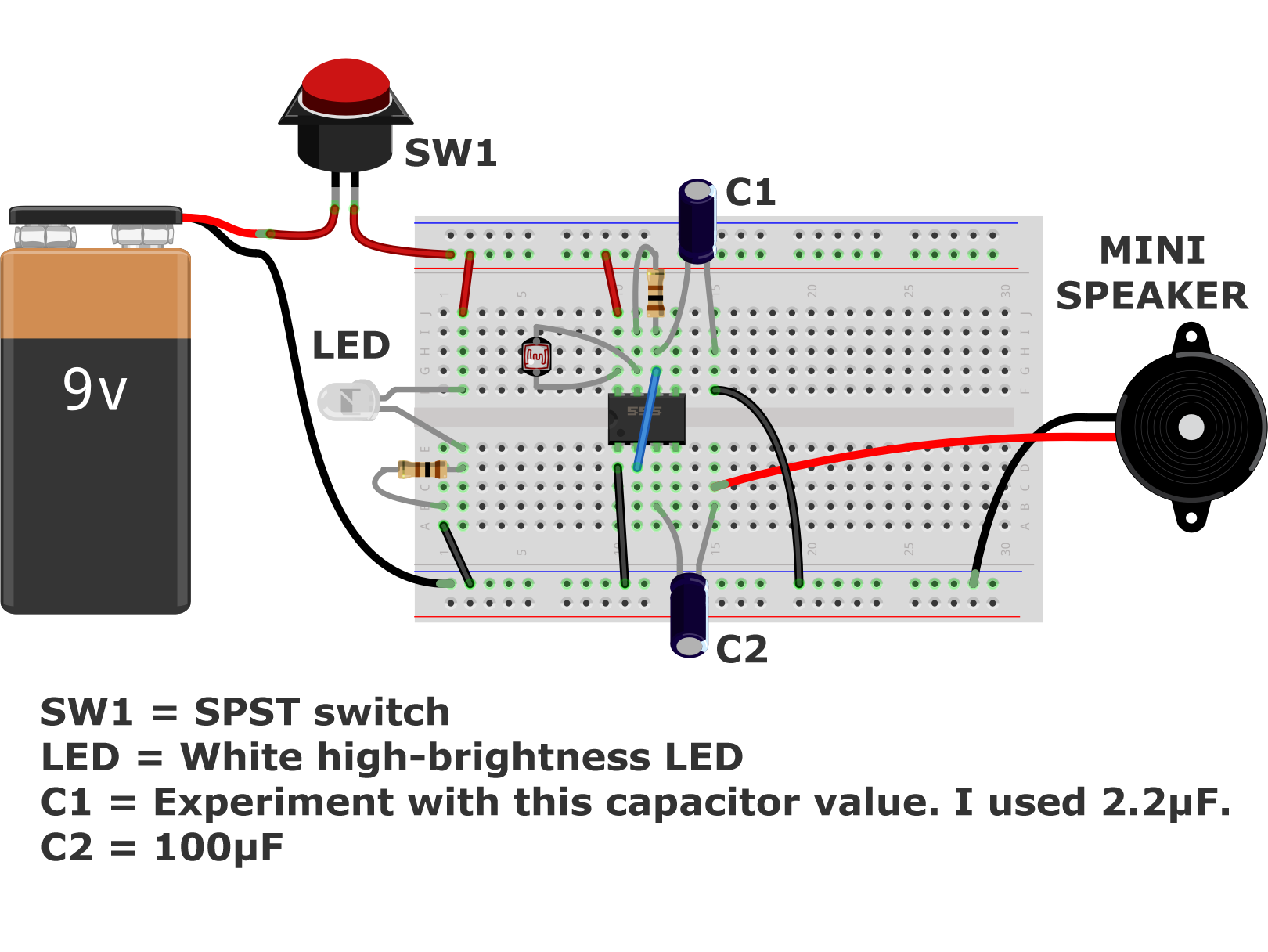 small resolution of build a light theremin into a musical noisemaker with weekend projects this project combines a 555 timer light dependent resistor led speaker
