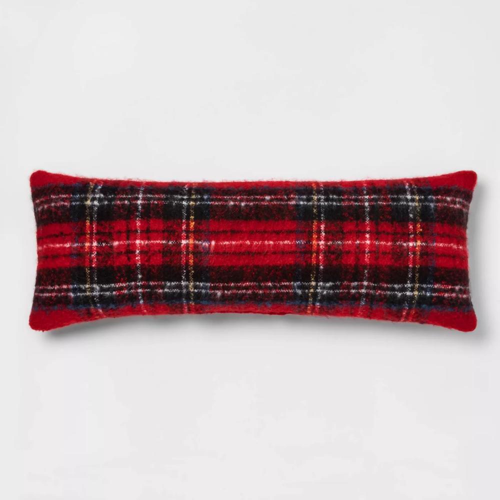Tartan Plaid Throw Pillow Red Threshold™ Target in