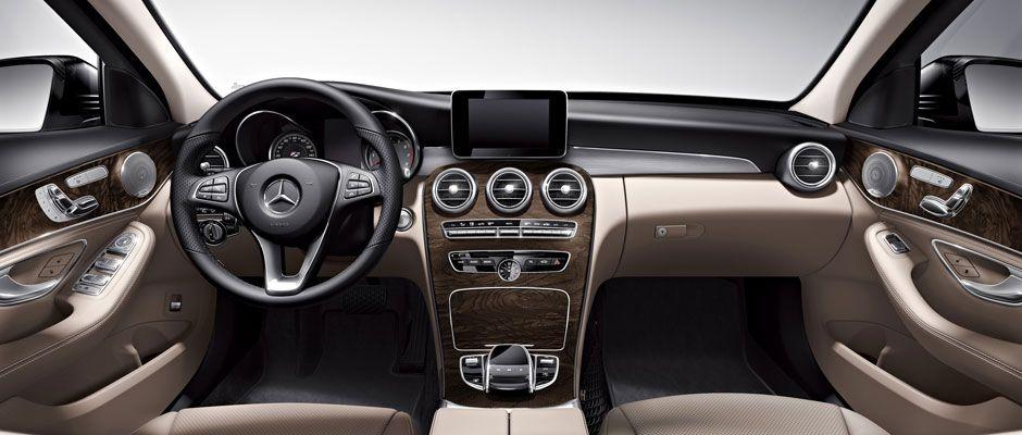 C 300 Sedan In Silk Beige Black Leather With Natural Grain Brown