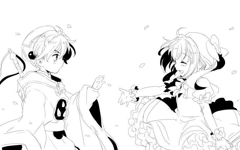 Line Art Anime : Tags cardcaptor sakura fanart li syaoran kinomoto line
