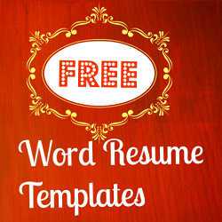 Free Microsoft Word Resume Templates  Template Collection And Free