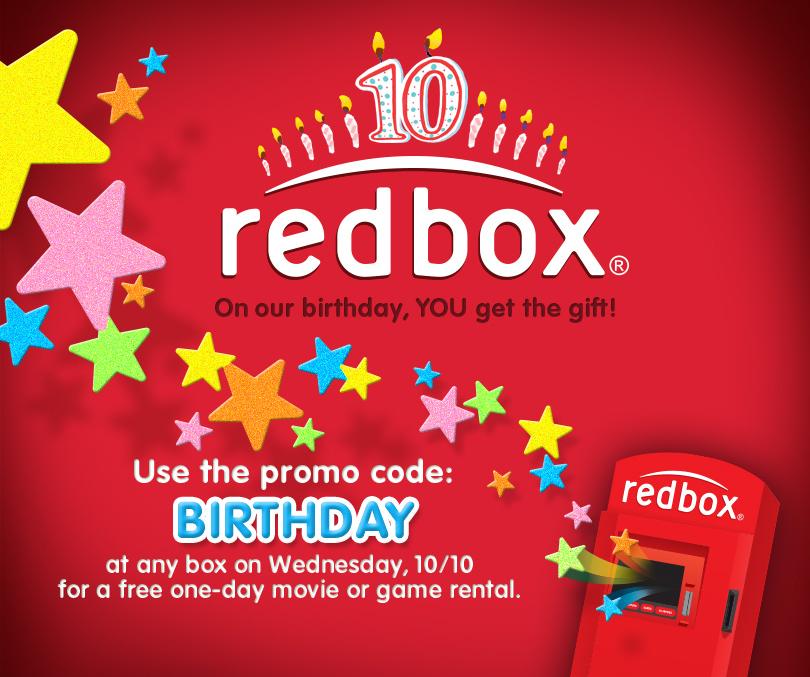 Free DVD rental Wednesday at Redbox using promo code