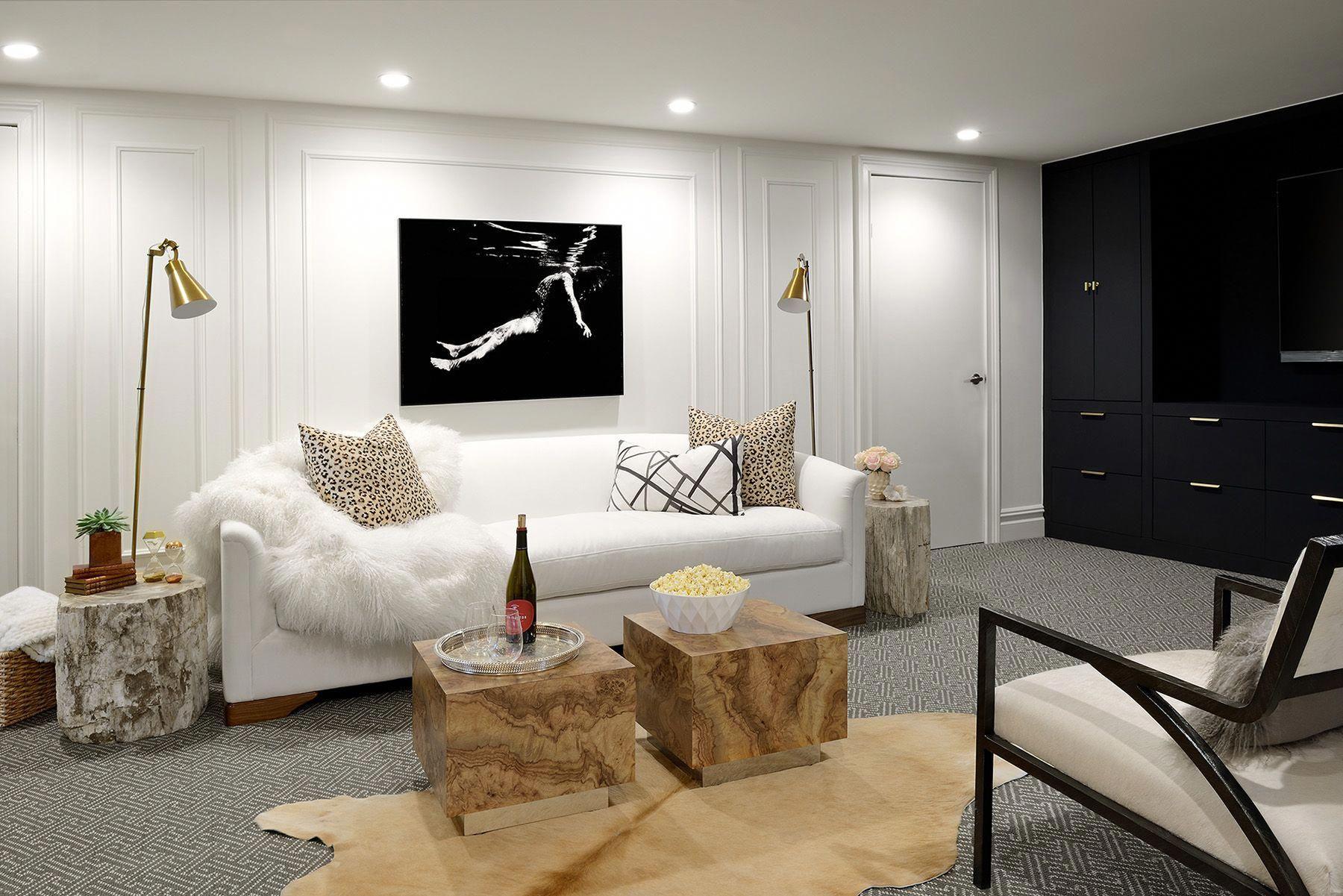 Small Basement Interior Design #SmallBasementDesign ...