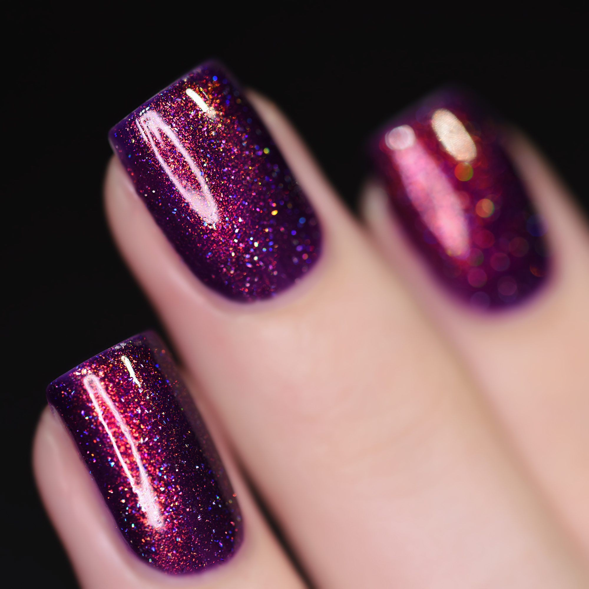 Ava - Vivid Violet Holographic Nail Polish by ILNP
