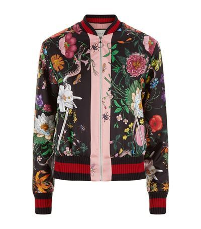 66bf4d7a961f5 Kensington | man wear | Satin bomber jacket, Printed bomber jacket ...