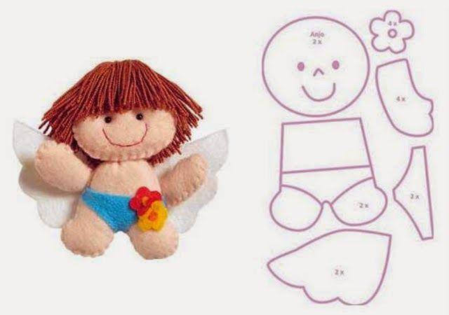 Eu Amo Artesanato: Bichinhos, bonecos de feltro com moldes e dicas