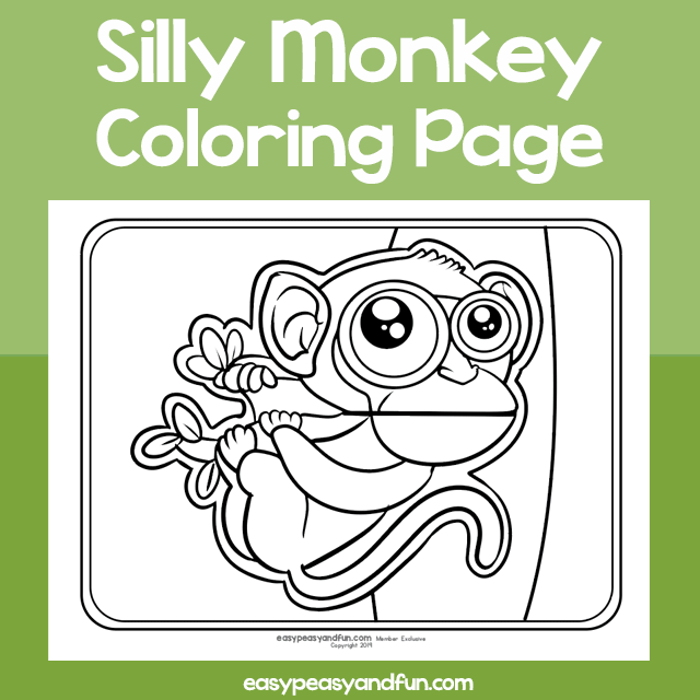 Silly Monkey Coloring Page Monkey Coloring Pages Dinosaur Coloring Pages Coloring Pages