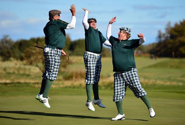 Old School golf attire