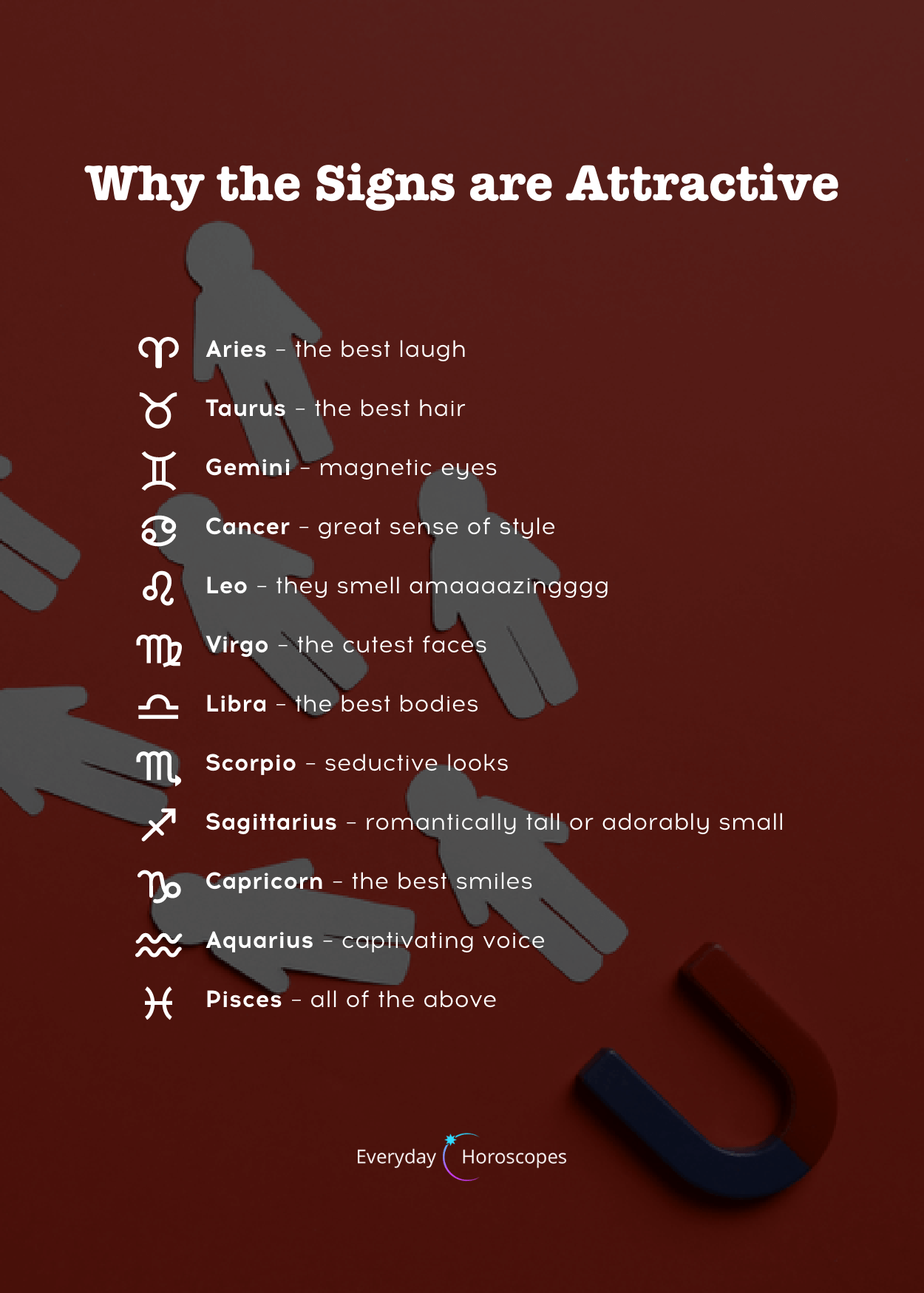 Zodiac Attraction – Zodiac signs and their most attractive features. Find out w…