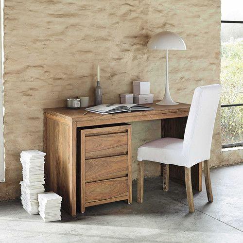 trendy escritorio de madera maciza de palo rosa an cm stockholm with maison du monde stockholm. Black Bedroom Furniture Sets. Home Design Ideas