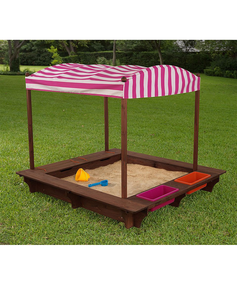 KidKraft Pink Outdoor Sandbox u0026 Canopy by KidKraft #  sc 1 st  Pinterest & Another great find on #zulily! KidKraft Pink Outdoor Sandbox ...