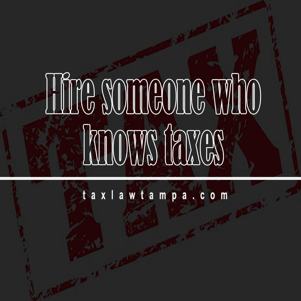 The Tampa Tax Attorney To Hire Should Moreover Be In A Position Of
