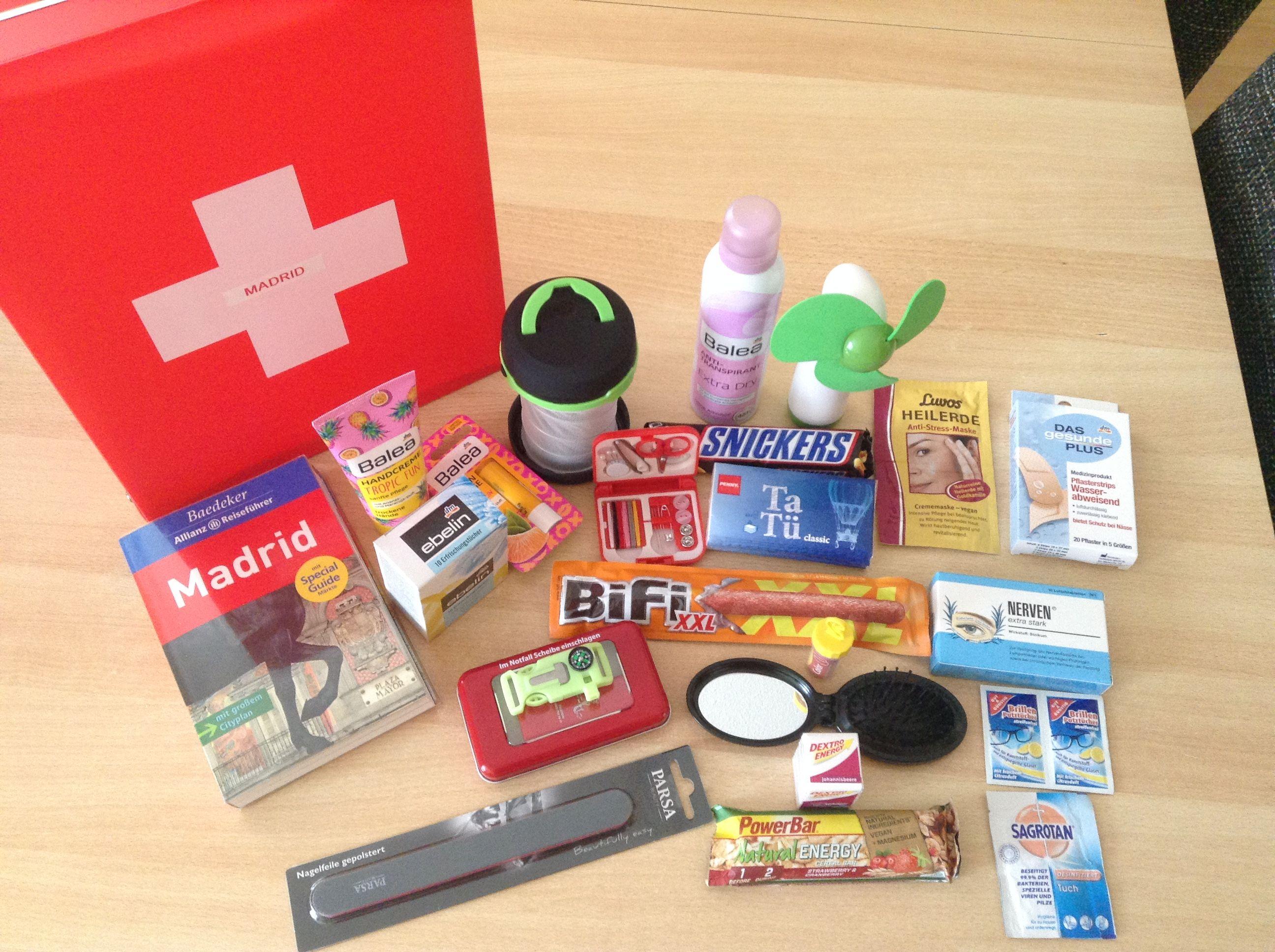 Survival Kit Fur Den Urlaub Mit Folgendem Inhalt Reisefuhrer