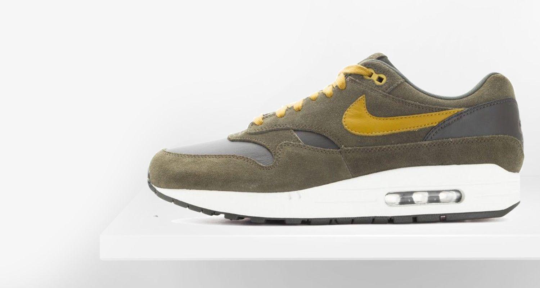 f60f404cd36 ... nike sportswear air max 1 brown kelp 308866 301 shelta nike air max 1  premium leather ...