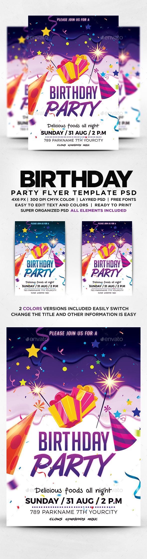 Happy Birthday Flyer Template Kubreforic