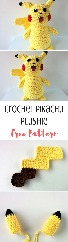 Free Pattern: Crochet Pikachu Plushie | Tejido y Animales