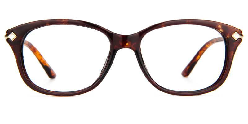 dd8f9317327 Cute Cheap Eyeglasses Elvira Rectangle Glasses Plastic Brown Frame 0216-02