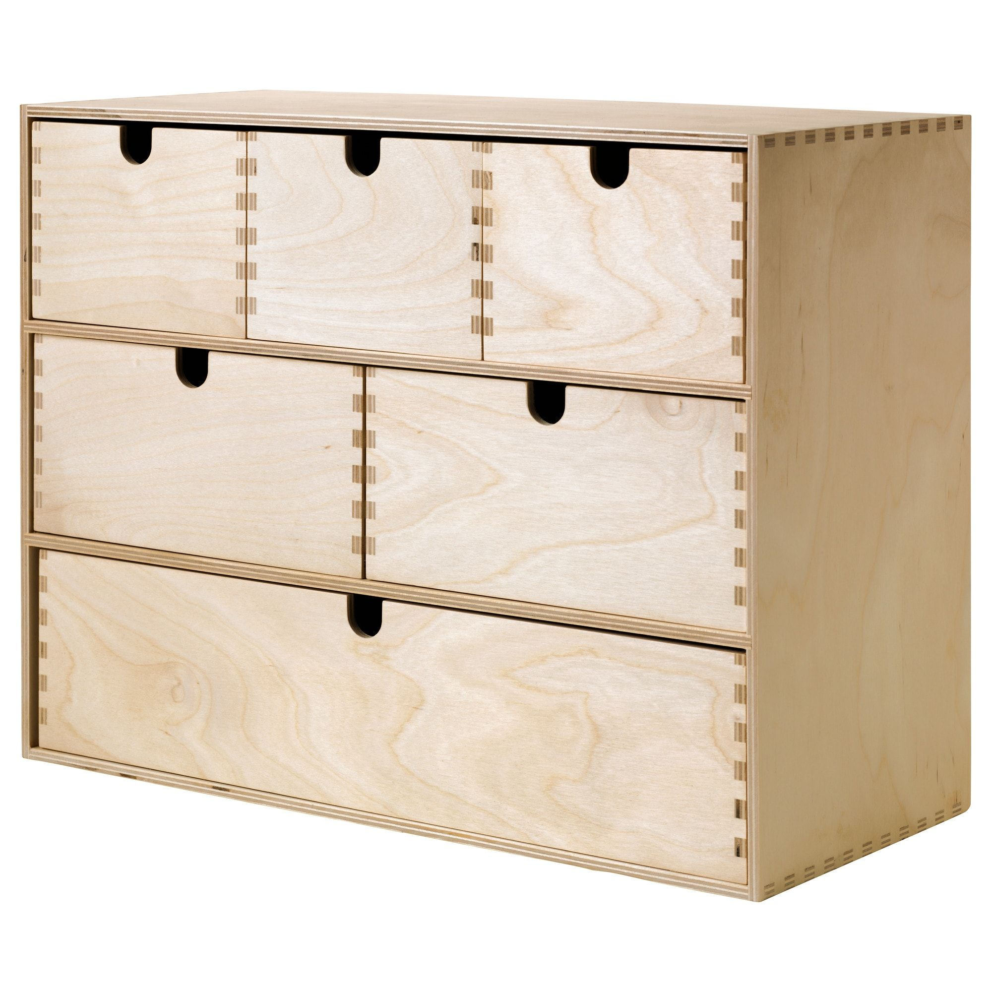Moppe Mini Storage Chest Birch Plywood 16 X7x12 5 8 Ikea In 2020 Mini Storage Small Storage Storage Boxes