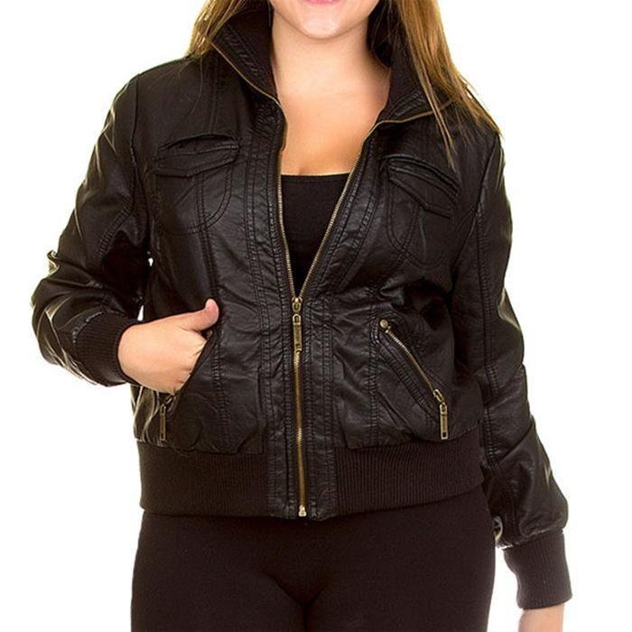 Cute Plus Size Leather Jackets for Women | Plus Size Site