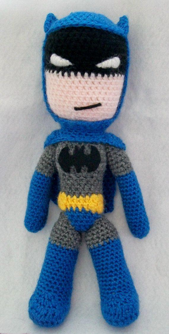 Crochet Batman Doll PATTERN by SnorkersImaginarium on Etsy | Cositas ...