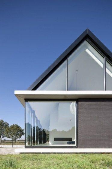 Dise o y planos de moderna casa de un piso con s tano y for Casa holandesa moderna