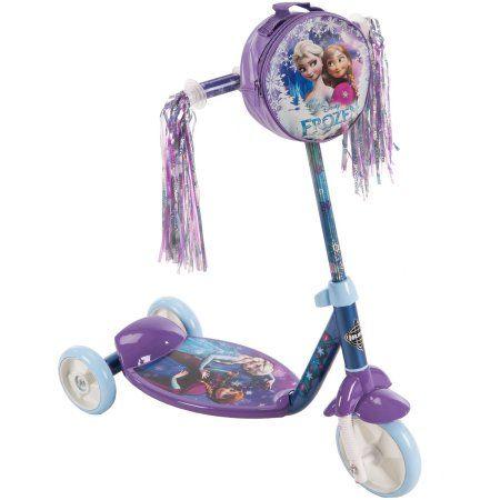 Disney Frozen Girls 3-Wheel Preschool Scooter by Huffy