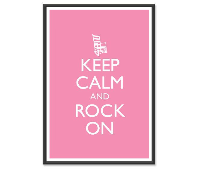 Keep Calm and Carry On  Keep Calm and Rock On  Humorous or | Etsy