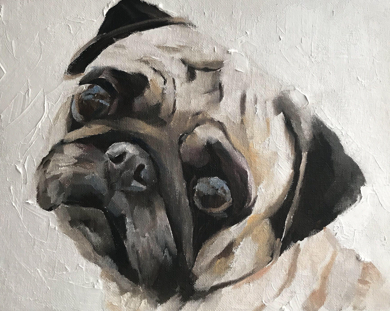 Custom Pet Portrait Original Oil Painting Dog Portrait Pet
