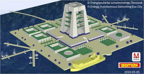 Isomax Terrasol: Eco-ville flottante et autosuffisante en termes de production énergétique