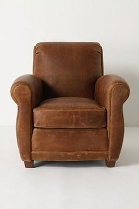 I Love Brown Leather Chairs, This Is The Maggie Club Chair From Anthro