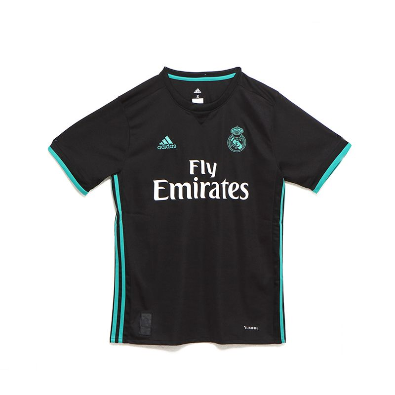 17-18 Real Madrid Away Black Soccer Jersey Shirt 9c5993733d208