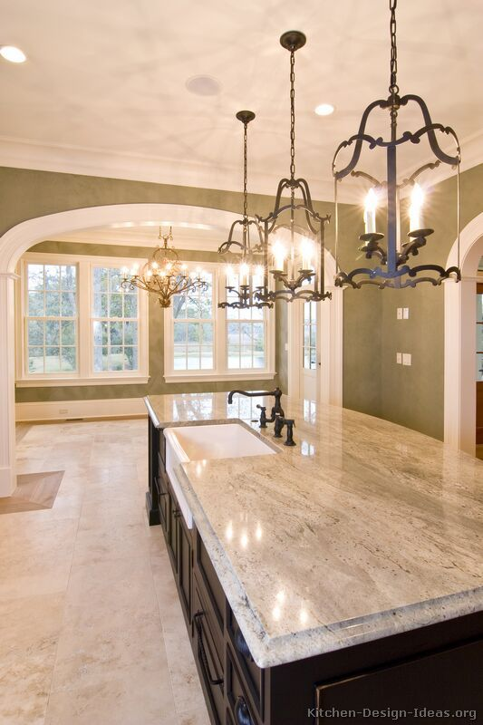 traditional kitchen lighting