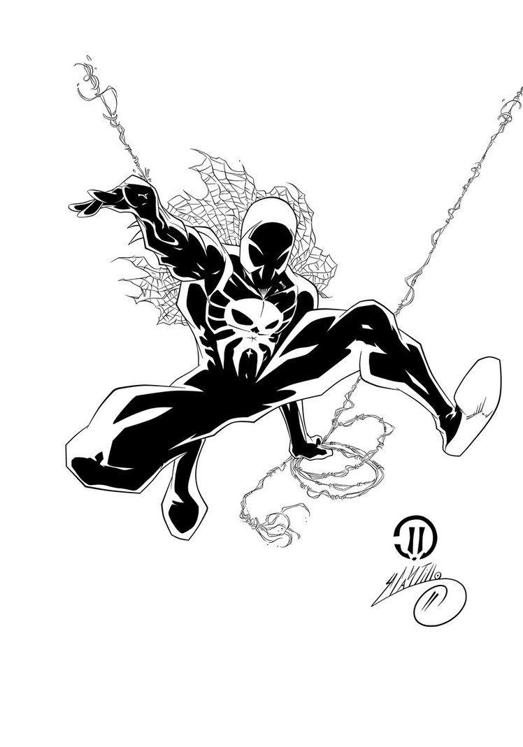 Spider Man 2099 Ink 1 By Swave18 On Deviantart Spiderman Comic Spider Man 2099 Spiderman