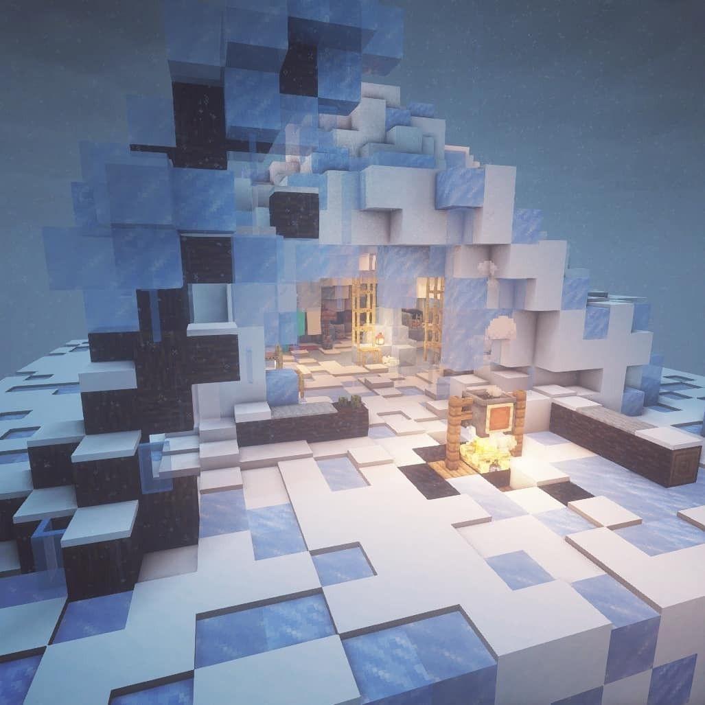 Minecraft Ice Cave