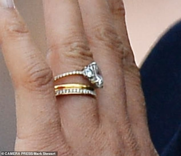 Meghan S Eternity Ring Contains Their Birth Stone And Archie S Too Royal Engagement Rings Celebrity Engagement Rings Original Engagement Rings