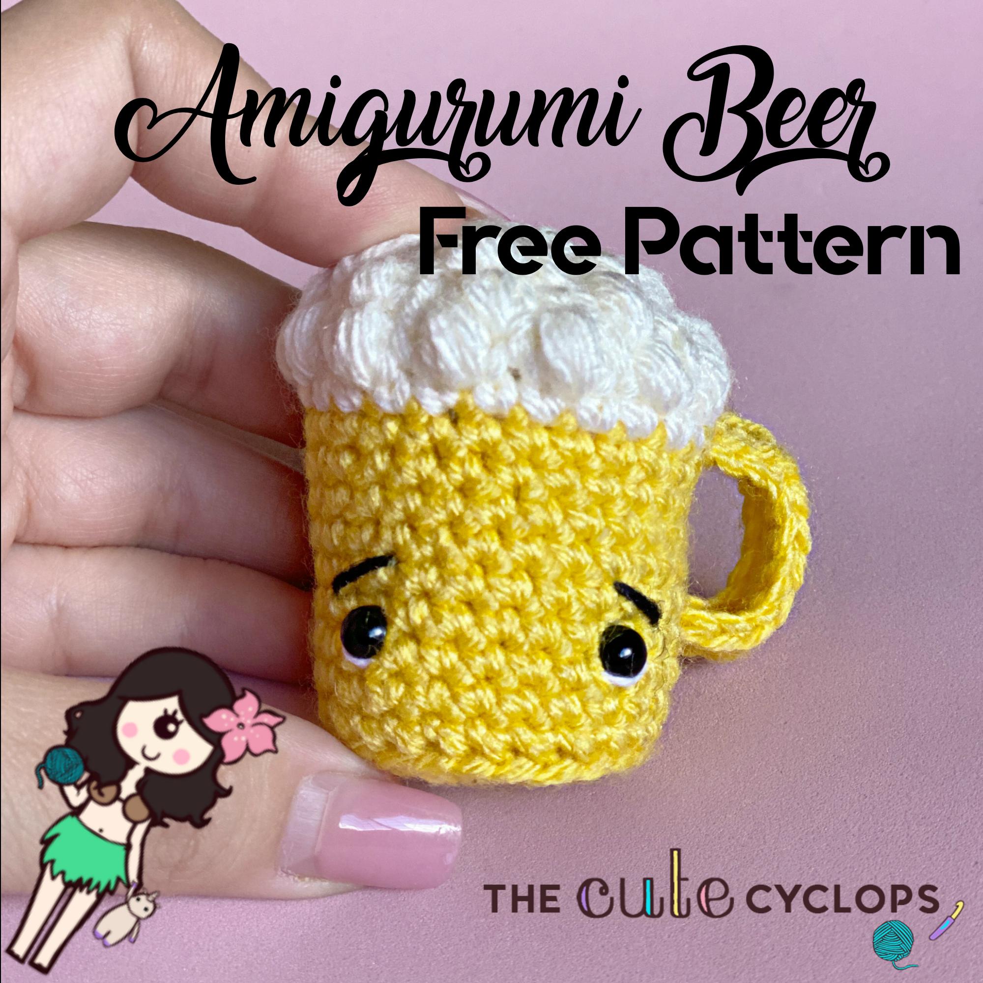 pattern amigurumi beer mug free PDF english-deutsch | 2000x2000