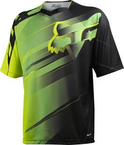 FOX RACING MENS MTB CYCLING S S GREEN BLACK DEMO JERSEY MOUNTAIN BIKING DH 02918e12b