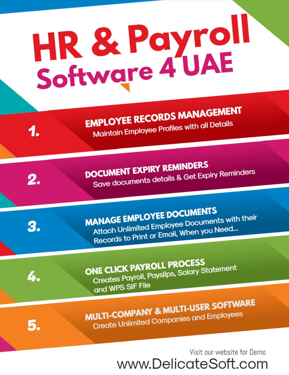 Payroll System Dubai Payroll Payroll Software Records Management