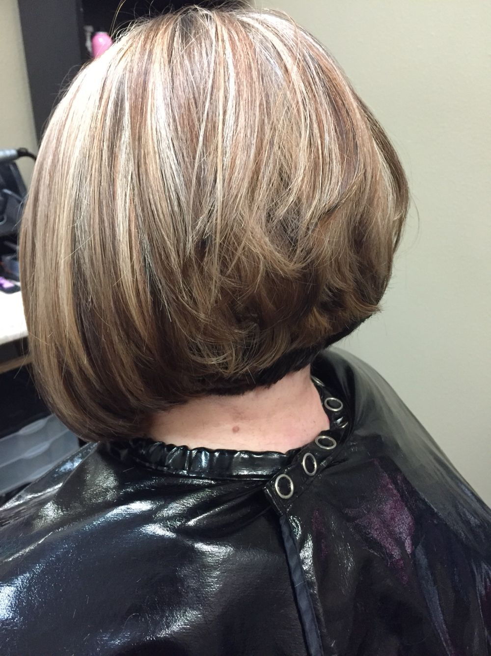 Blonde Highlights And Red Brown Lowlights Hair Color Short To