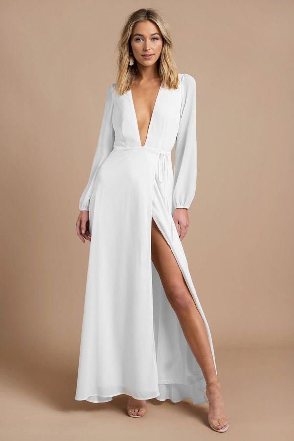 35++ Long sleeve white maxi dress information