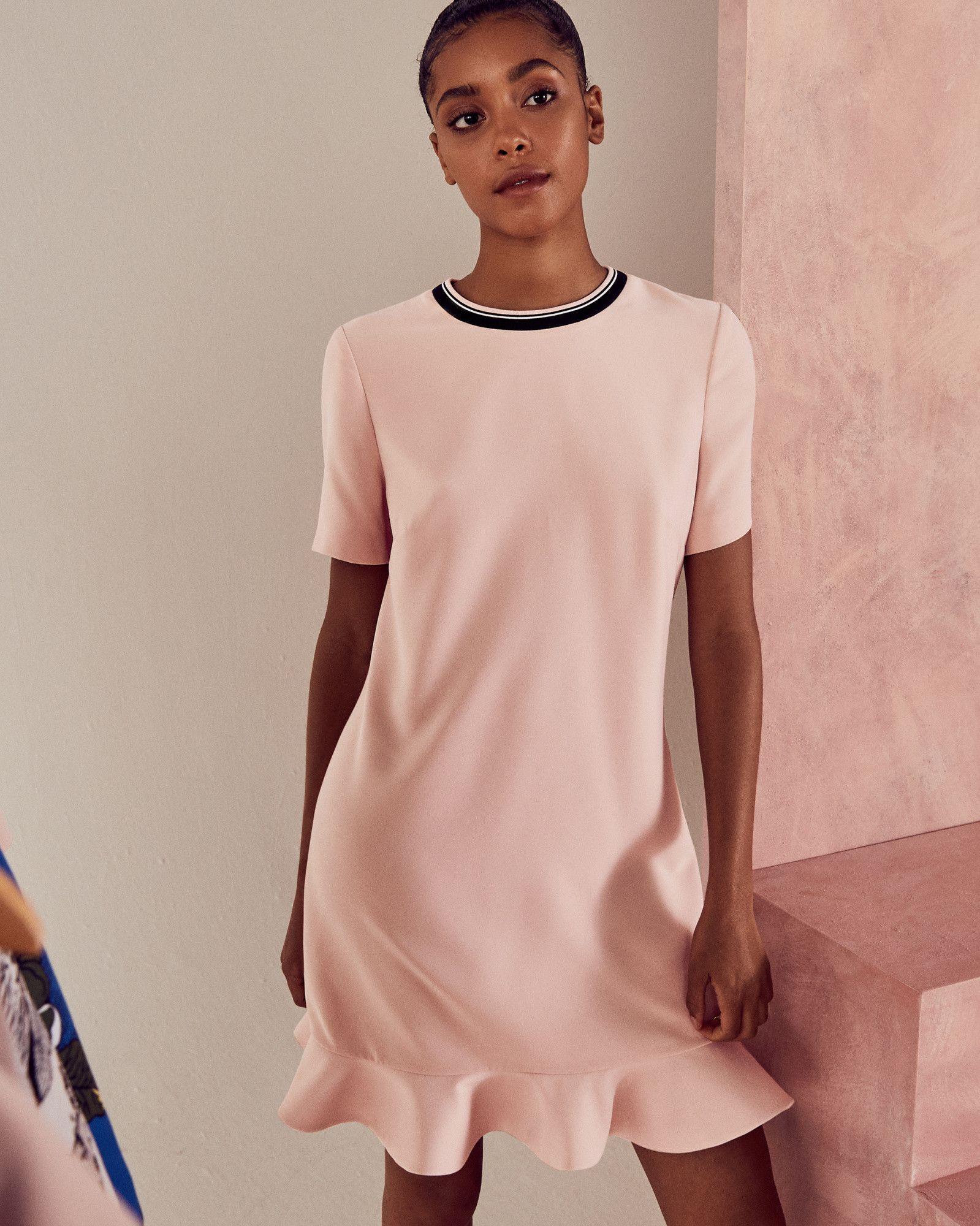 Tunic peplum dress - Pink | Dresses | Ted Baker | pretty clothing ...