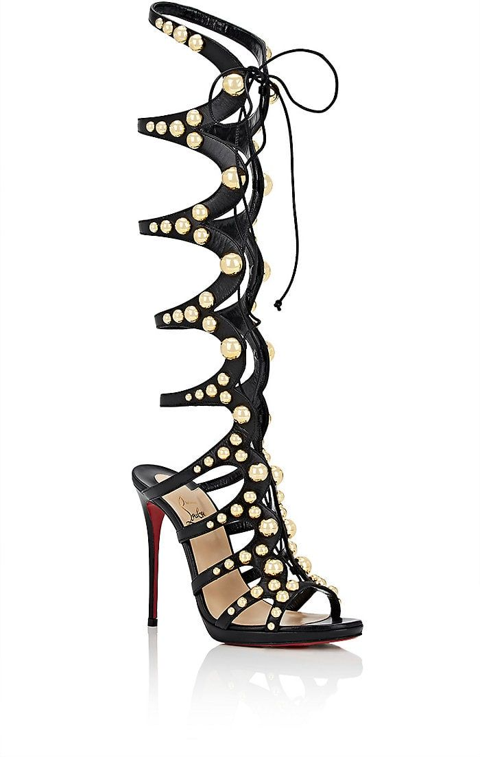 d0f4fd14d277 ... amazon christian louboutin leather gladiator sandals. 36fe5 e5a23