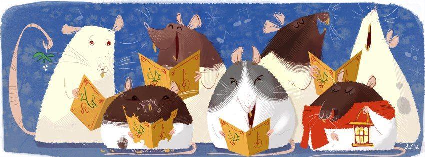 Caroling Rats by Steph Laberis