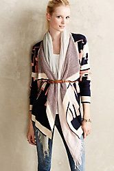 Cerrillos Cardigan. Beautiful, elegant, Southwest-inspired style. Love the sumptuous draping in front.