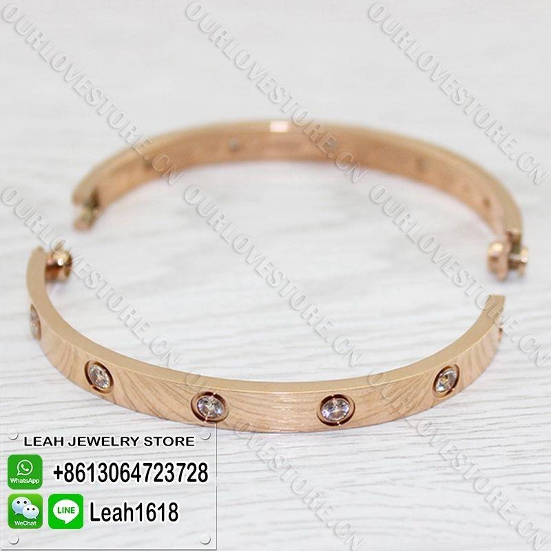 5ad953faac97 Cartier Love Bracelet Replica Pink Gold 10 Diamonds B6040616 ...