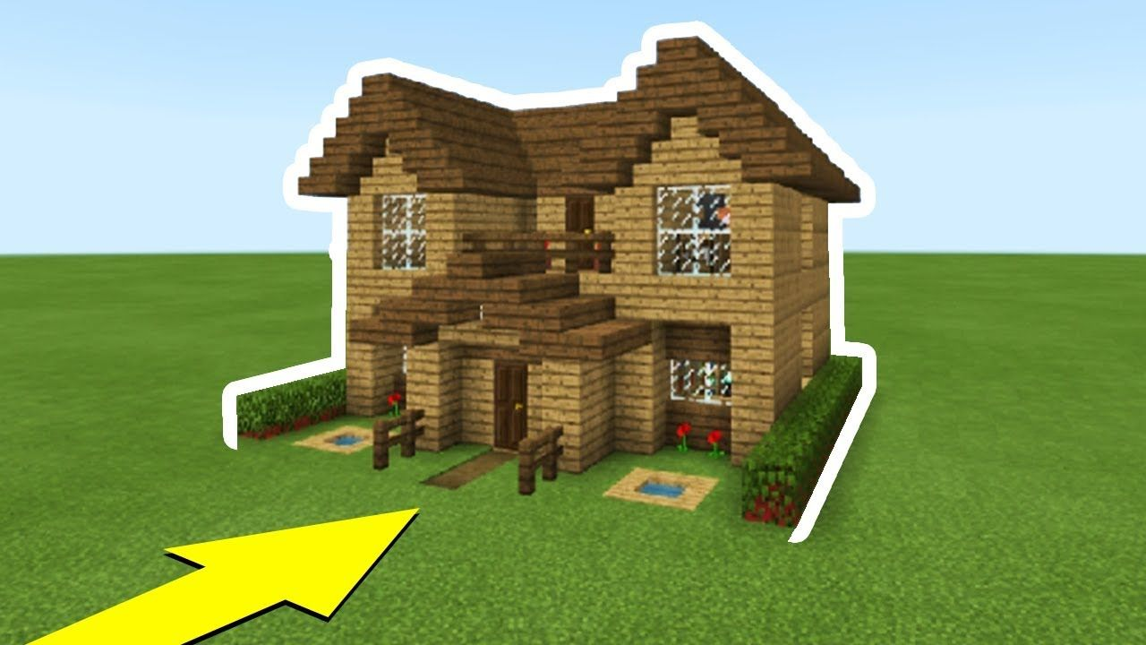 Minecraft Tutorial How To Make The Ultimate Wooden Starter House Everything You Need To Easy Minecraft Houses Cute Minecraft Houses Minecraft Houses Survival