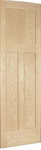Mastercraft Oak Mission Flat 3 Panel Interior Door Only At Menards Doors Interior Craftsman Decor House Doors