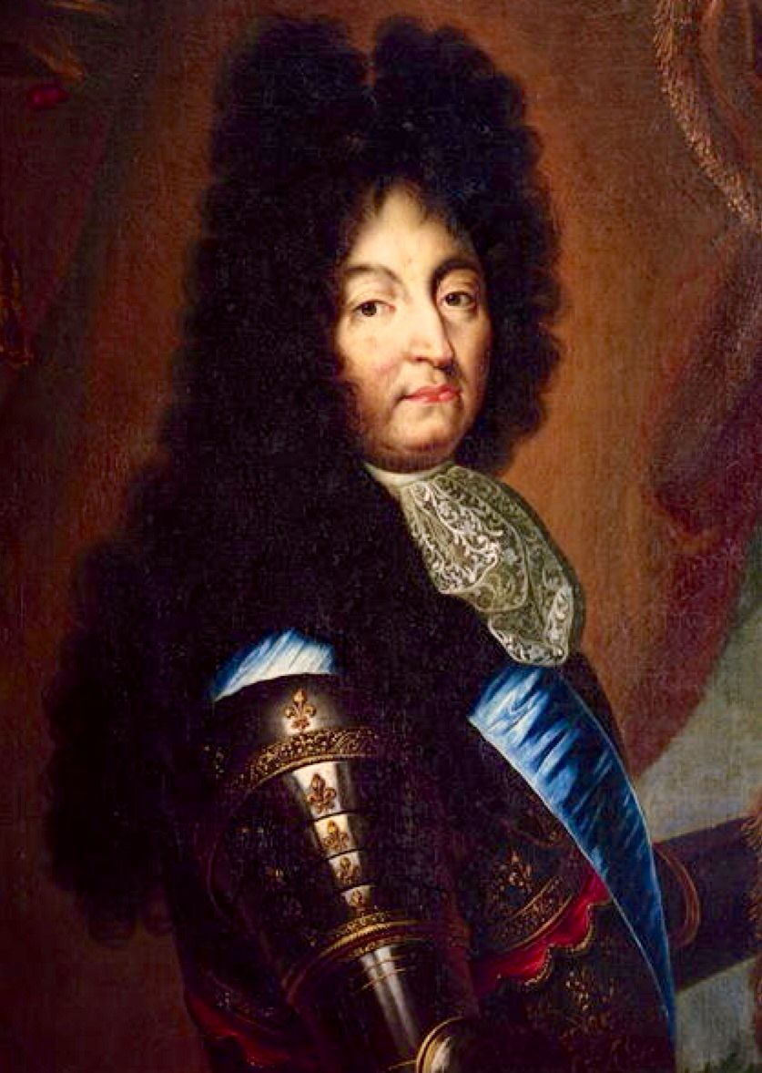 Luis XIV a la edad de 72 años